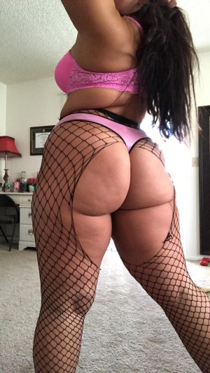 Big Butt Latina Amateur in Fishnet Pantyhose