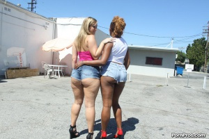 Black Ghetto Ass and PAWG Whooty in Jean Shorts