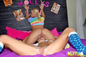 Bubble butt lesbian pussy licking orgasm
