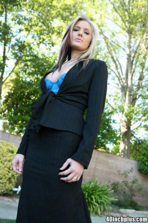 Busty Blonde MILF Secretary