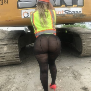 Candid Blonde PAWG with a Fat White Butt in Pantyhose