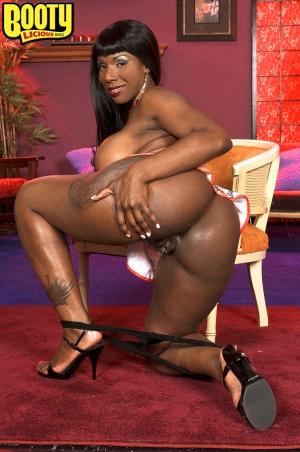 Ebony plumper with a big black booty