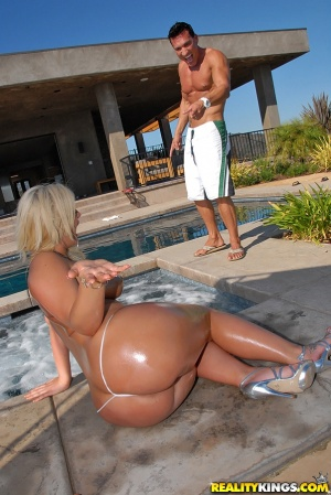 Fat Ass PAWG with Huge Oiled Ass Cheeks