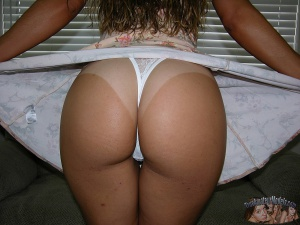 Fat White Ass with Nice Tan Lines