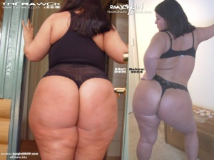 Huge SSBBW Booty and Weight Gain Comparison