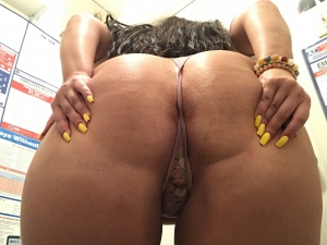 Massive Latina Thong Booty POV Ass Spreading