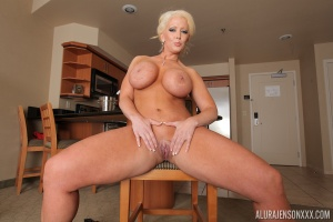 Mature PAWG Shaved Pussy Spreading