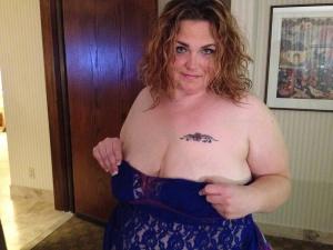 Mature White BBW with a Slutty Tattoo