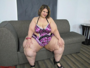 Pear Bottom SSBBW with Massive Thighs