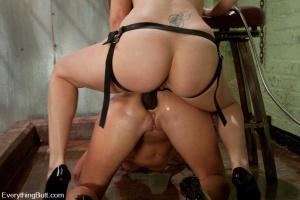 Rough lesbian strapon punishment