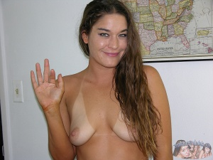 Tanned Amateur Model with Natural Tits