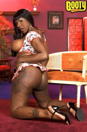 Tattooed ass ebony slut
