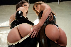 Thick white ass in latex